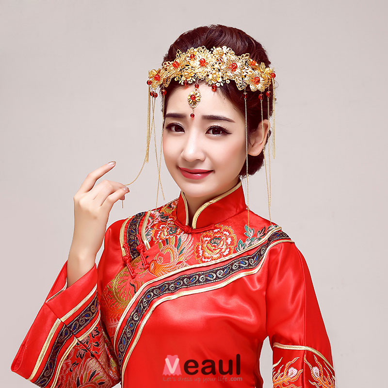 Chinese Style Classical Bridal Headpiece /Head Flower / Wedding Hair Accessories / Wedding Jewelry