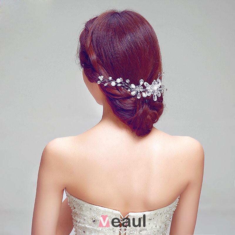 Fashion Luxury Rhinestone Bridal Headpiece Wedding Hair Accessories Wedding Jewelry