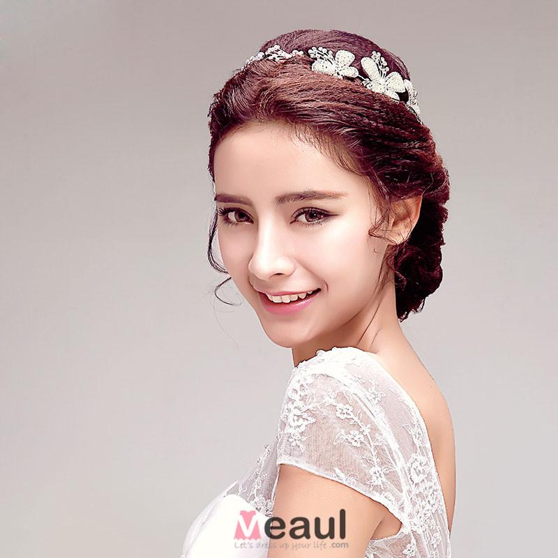 Sweet Shine Flower Rhinestone Bridal Headpiece /Head Flower / Wedding Hair Accessories / Wedding Jewelry/ Garland