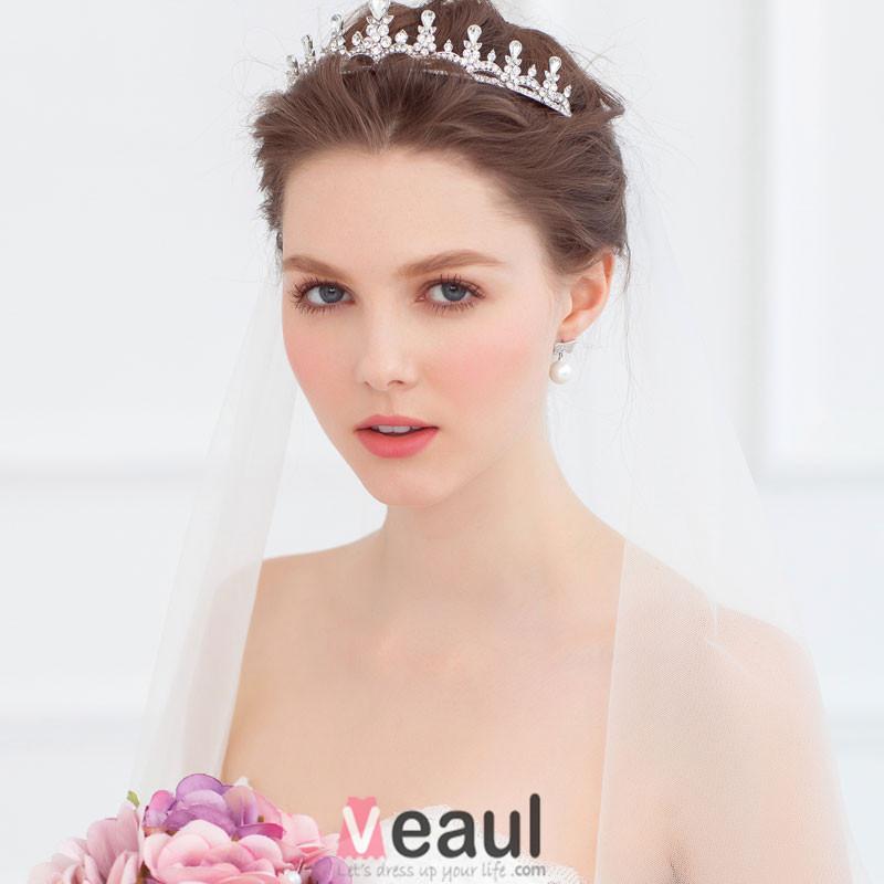 Bride Small Crown Headdress / Wedding Dress With Jewelry