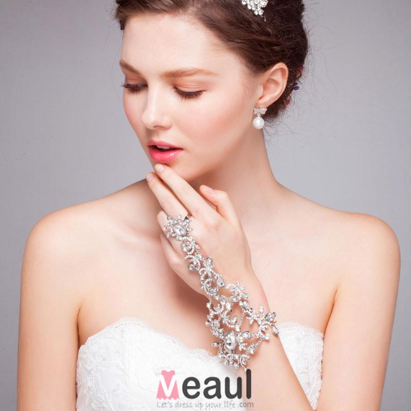 White Luxury Diamond Crown Tiara/ Wedding Hair Accessories Bridal Jewelry Piece Fitted