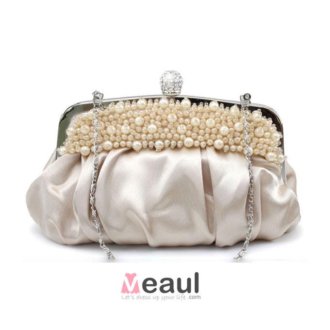 Hand-beaded Handbag Banquet Package Princess Bag Bridal Bag Small Bag Clutch Bags
