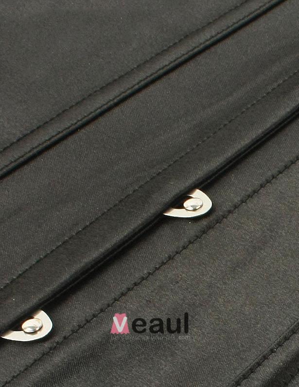 Black Sleeveless Shoulders Corsets