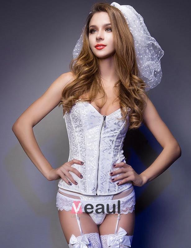 Bridal Strapless Wedding Dress Corset Abdomen Shaping Underwear