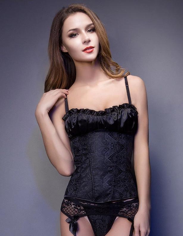 Detachable Shoulder Strap Abdomen Corset Underwear