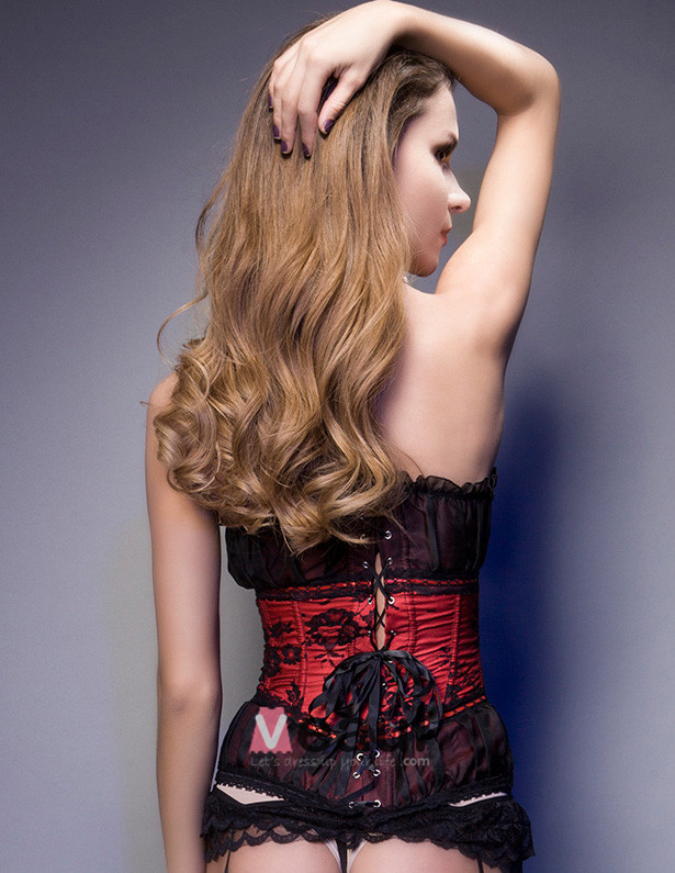 Sweetheart Strapless Lace Corset