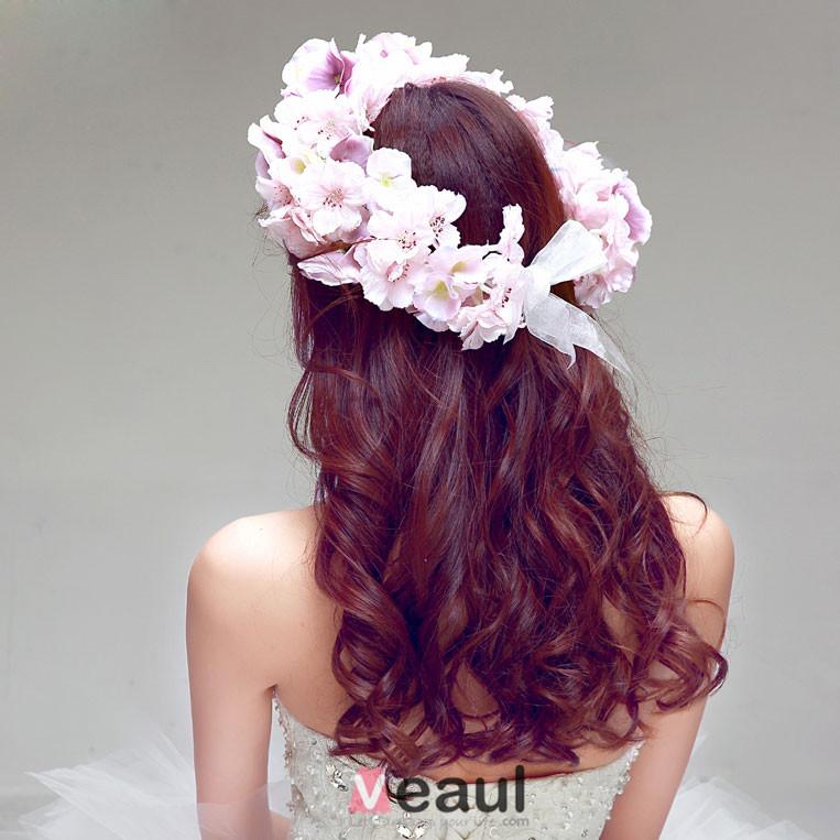 Mode Elegante Jasmin Mariée Coiffure / Fleur Tete / Accessoires De Cheveux De Mariage / Bijoux