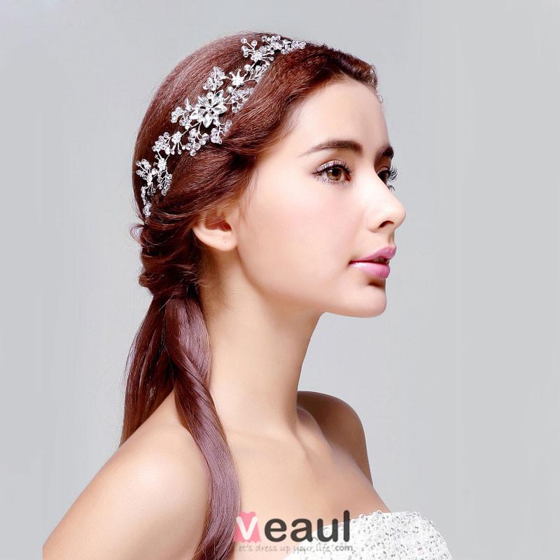 Strass Cristal Mariée Coiffure / Fleur Tete / Accessoires De Cheveux De  Mariage / Bijoux De