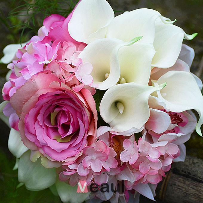 Accessoires de mari e mariage bouquets detenant fleur artificielle fleur en s - Bouquet de fleurs artificielles pour mariee ...