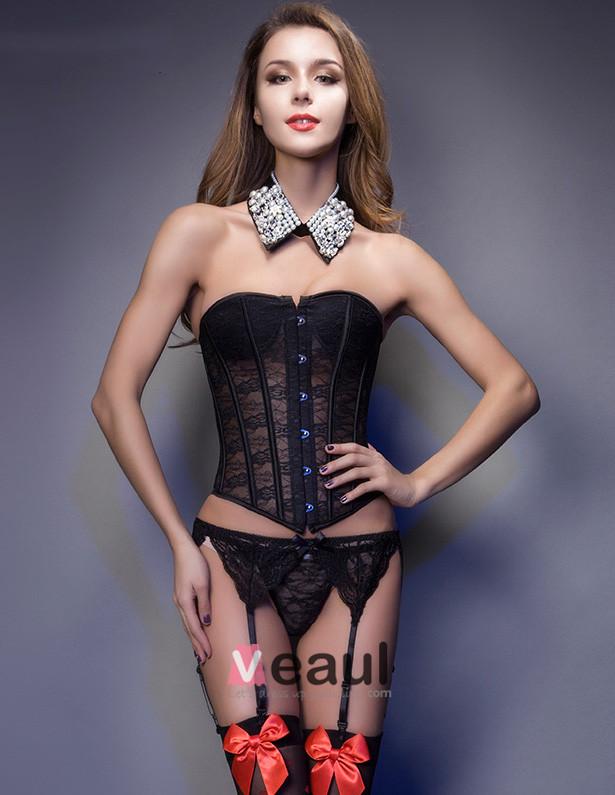 marie en dentelle transparente mince abdomen corset sous vetements - Sous Vetement Bustier Mariage