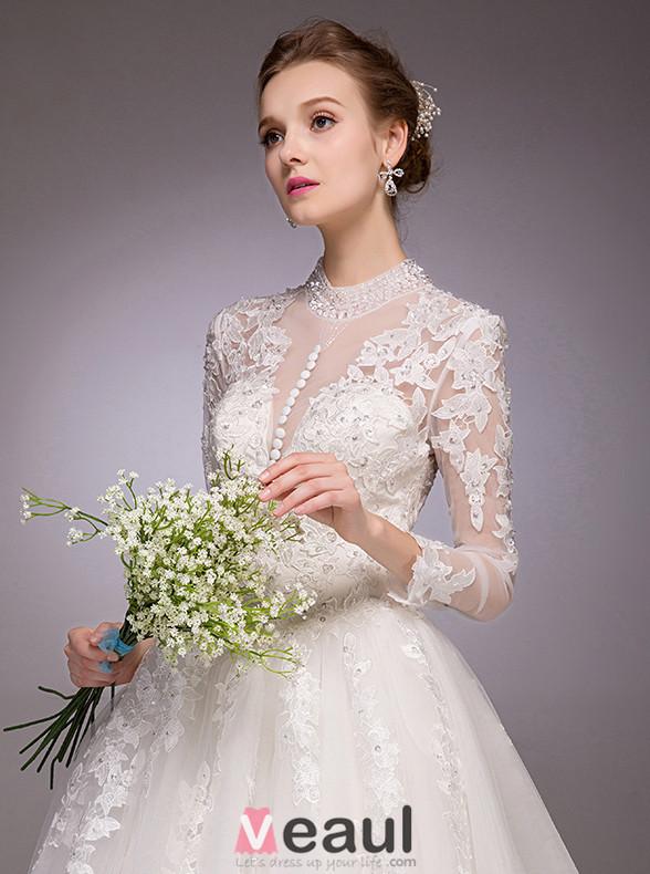 ... Spitze Rückenfrei Hochzeitskleid Brautkleid [111511003] - Veaul.com