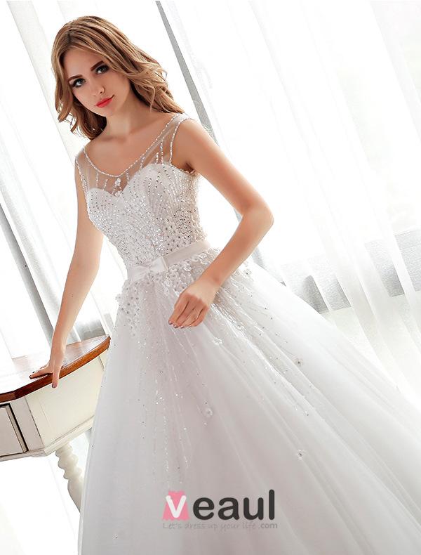... Brautkleider Ballkleid Blumen Hochzeitskleid Mit Strass Und Pailletten