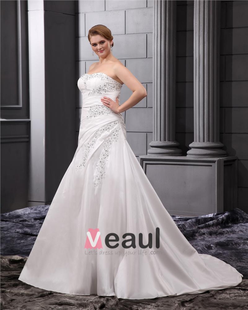 ... Große Größen Brautkleider Hochzeitskleid [1714120068] - Veaul.com