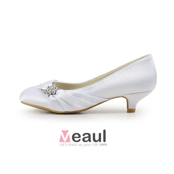 chaussure blanche petit talon