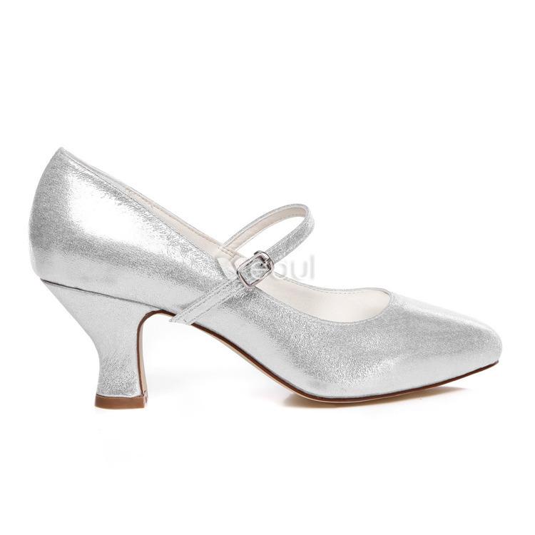 chaussures de marie sparkly escarpins chaussures de mariage en argent avec bride cheville - Escarpin Argent Mariage