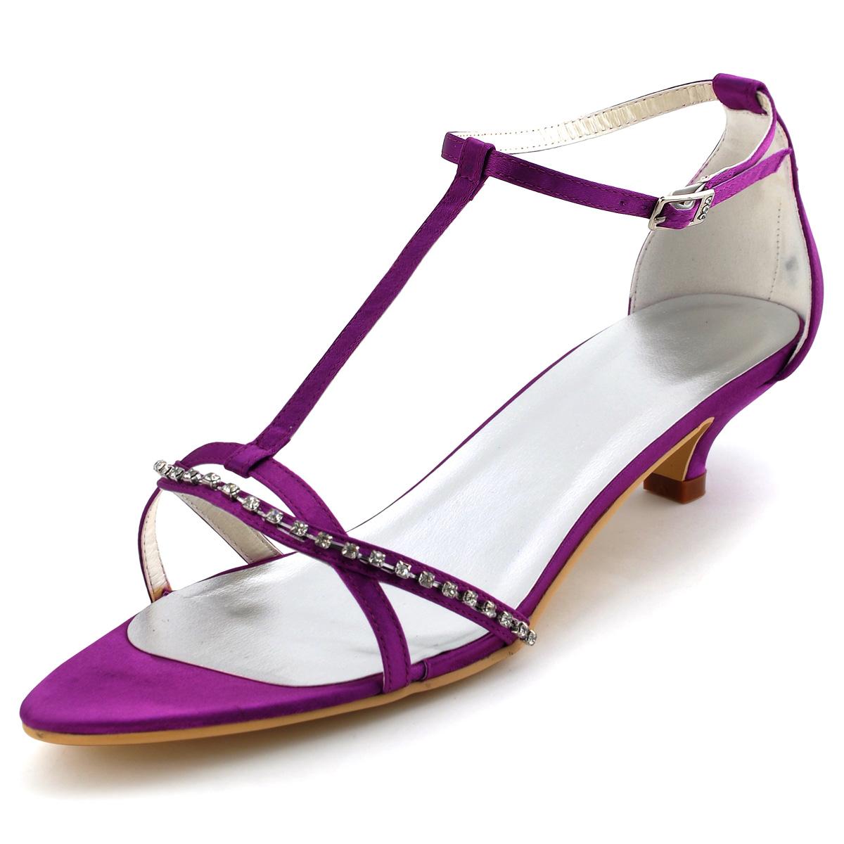 chaussures de soir e a talons bas ouvert en satin orteil chaussures de mariage chaine de diamant. Black Bedroom Furniture Sets. Home Design Ideas