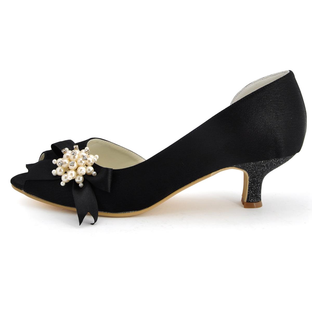 chaussures talon satin noir. Black Bedroom Furniture Sets. Home Design Ideas