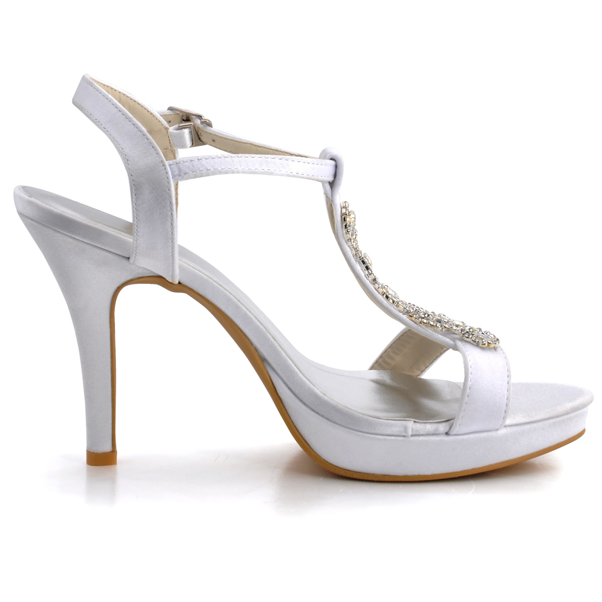 fait main impermeables personnalise chaussures a talons hauts de mariage de satin blanc diamant. Black Bedroom Furniture Sets. Home Design Ideas