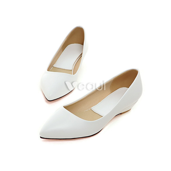 Chaussures à bout pointu blanches femme 2f4V9