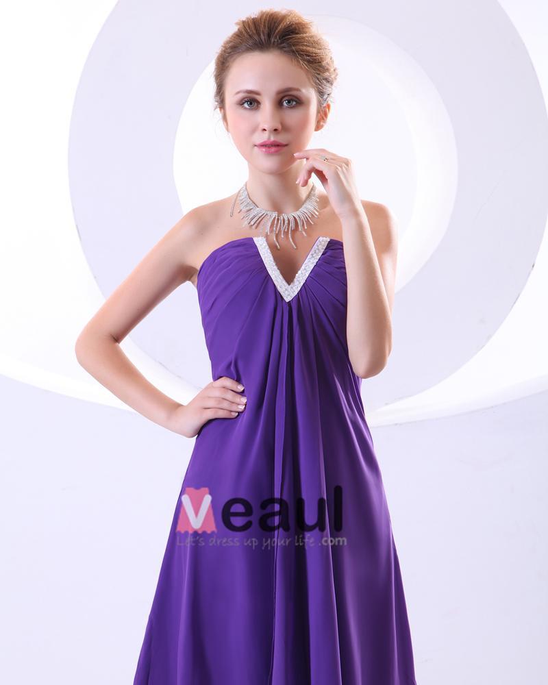 Charmeuse Chiffon Sweetheart Ruffle Beading Empire Short Mini Women's Cocktail Dress