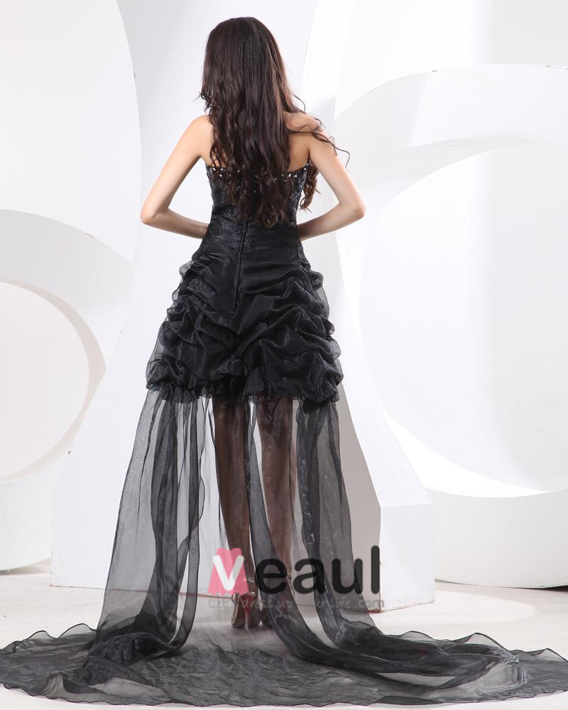 Ruffle Applique Organza Sweetheart Floor Length Cocktail Dresses