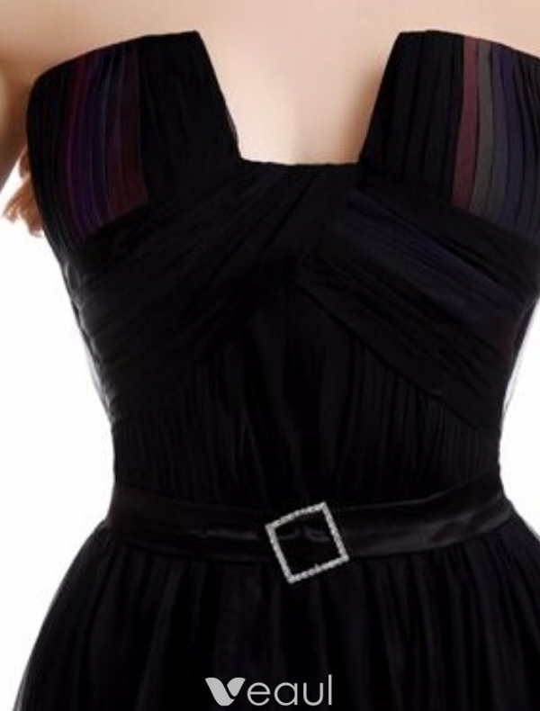 Sexy Cocktail Party Dress 2016 Strapless Gradient Color Chiffon Transparent Dress