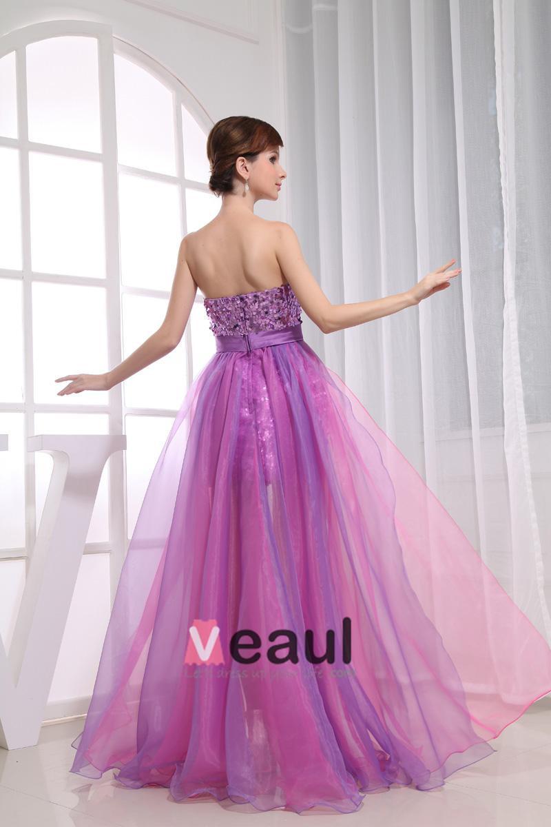 Silk Satin Sequins Bow Sweetheart Sleeveless Zipper Floor Length Pleated Panel Prom Cocktail Dress