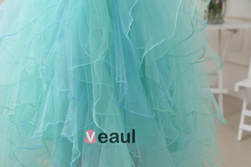 Sweetheart Floor Length Beading Satin Tulle Silk Woman Prom Cocktail Dress