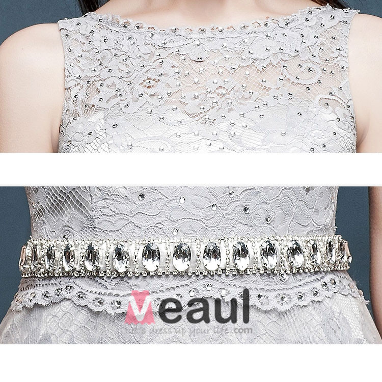 2015 A Line Lace Beading Long Evening Dress Formal Dress