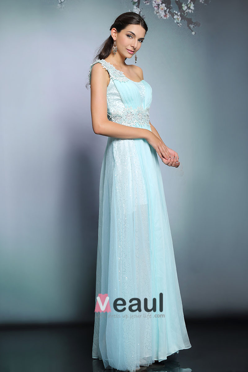 2015 Flower Sequin Pleated Party Dress Evening Dress
