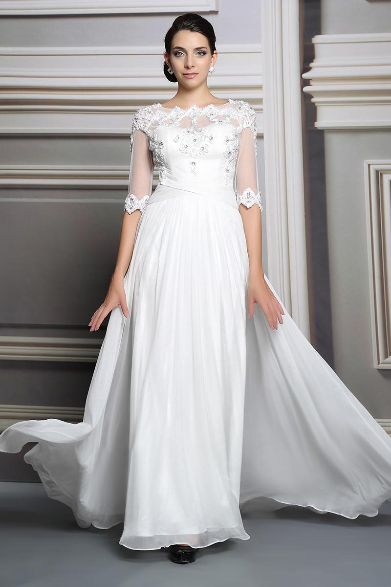 2015 Silk Chiffon Beading Ruched Party Dress