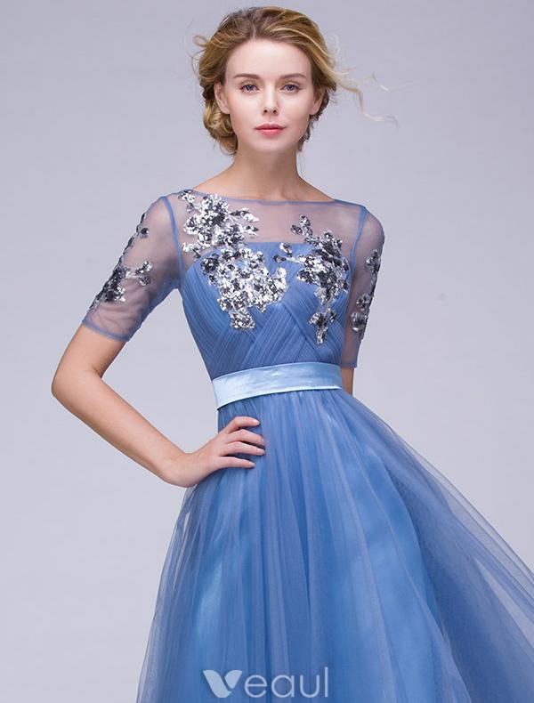 Beautiful Evening Dresses 2016 A-line Square Neckline Applique ...