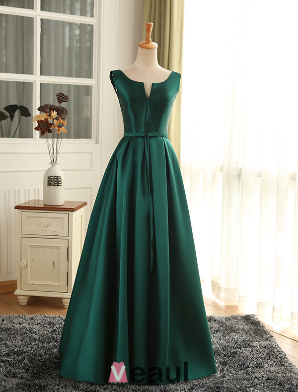 Dresses-Evening-Dresses-Evening-Dress-2016-Simple-Deep-V-neck-Ruffled ...