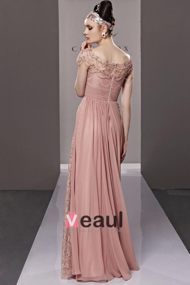 Strapless Beading Flower Hem Sleeveless Zipper Floor Length Tencel Woman Evening Dresses
