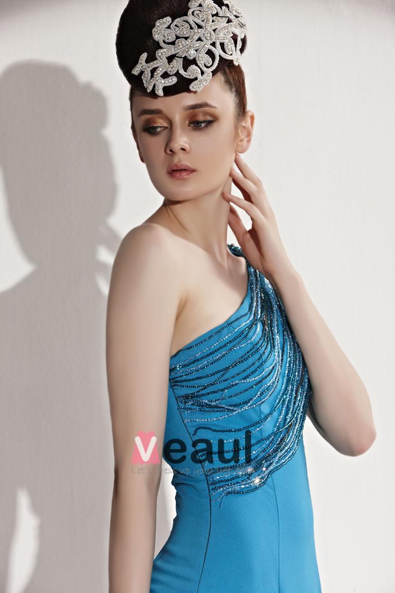 Strapless Beading Tassel Lotus Leaf Hem Sleeveless Zipper Floor Length Chiffon Woman Evening Dresses