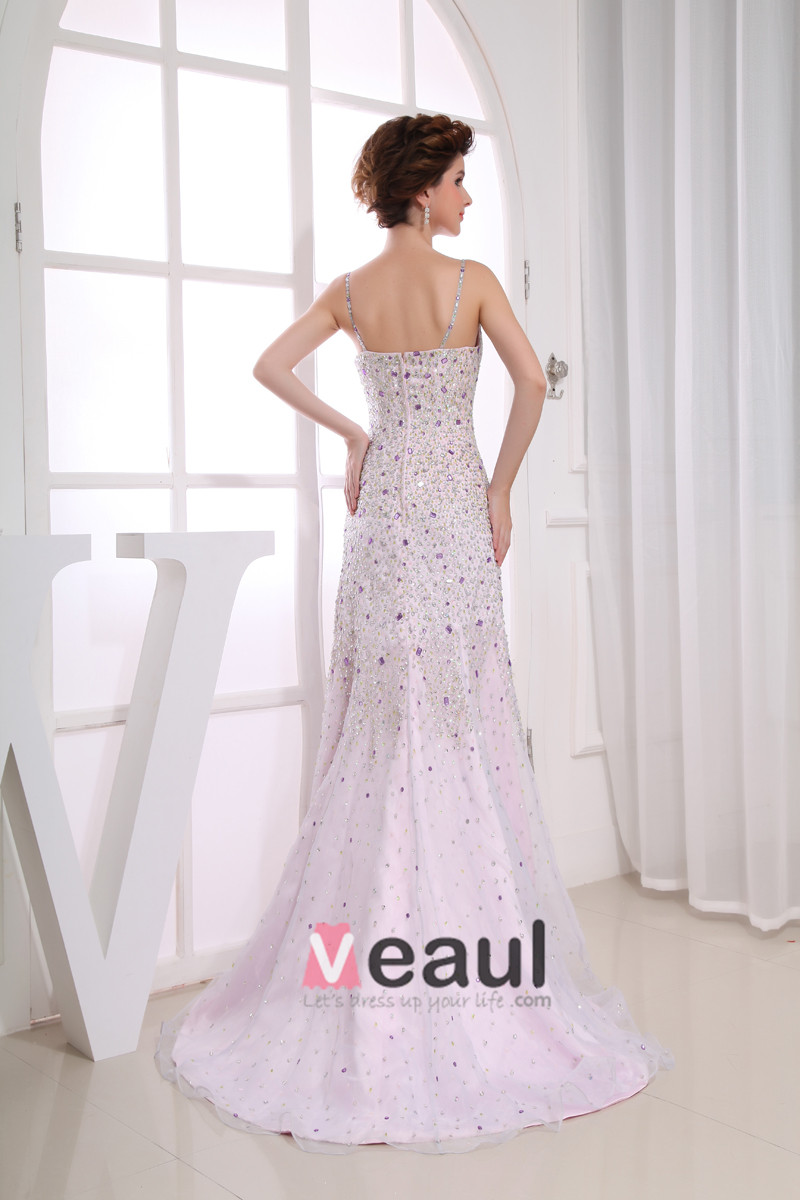 Sweetheart Sleeveless Zipper Beading Floor Length Organza Woman Evening Dress