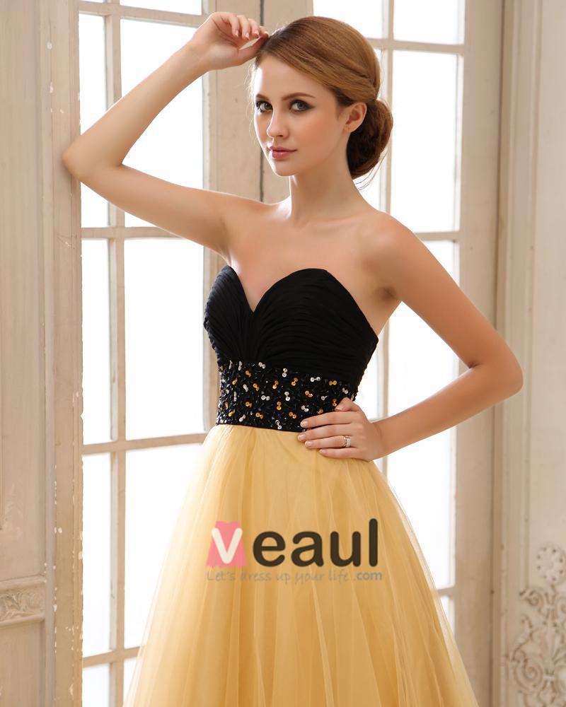 Tulle Beading Pleated Sweetheart Floor Length Evening Dresses
