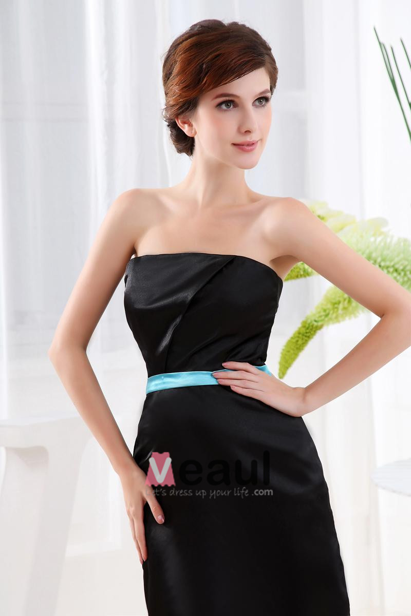 Satin Strapless Sleeveless Backless Zipper A Line Short Prom Party Dress