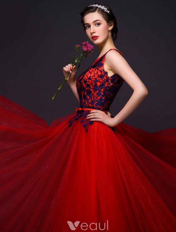 Red White And Blue Prom Dresses - Purple Graduation Dresses