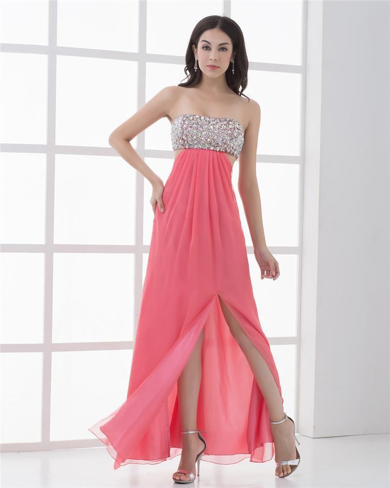 Pleated Prom Dress