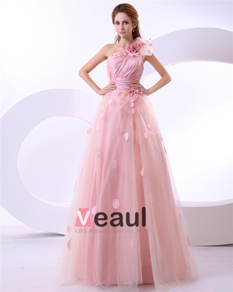 fleur de satin une epaule robes de mari e une robe de On commander une robe de mariée en ligne