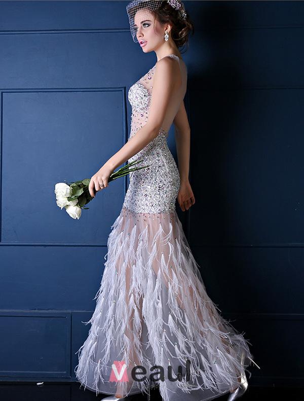 Robe plume blanche pas cher la mode des robes de france - Lot de plumes pas cher ...