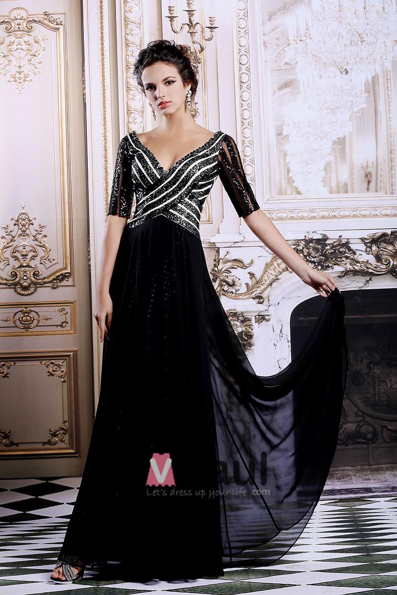 robes tonnantes blog robe de soiree noire pailletee. Black Bedroom Furniture Sets. Home Design Ideas