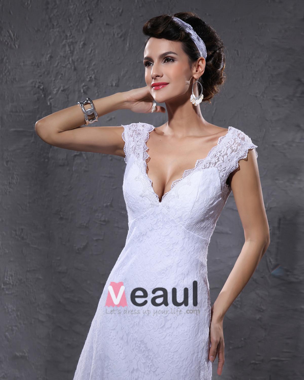 Dentelle longueur au genou robe de mariée