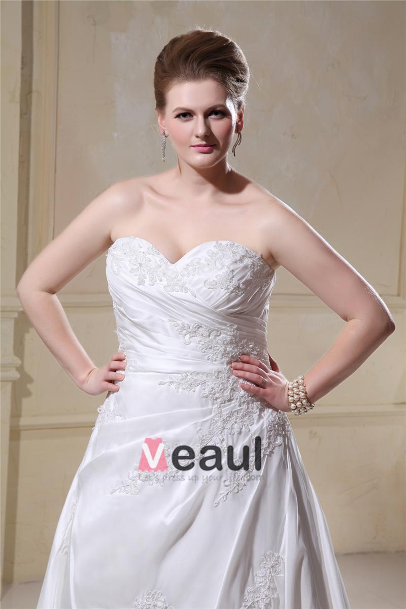 ... Chapelle Cherie A-ligne De Mariée Plus La Taille Robe De Mariée