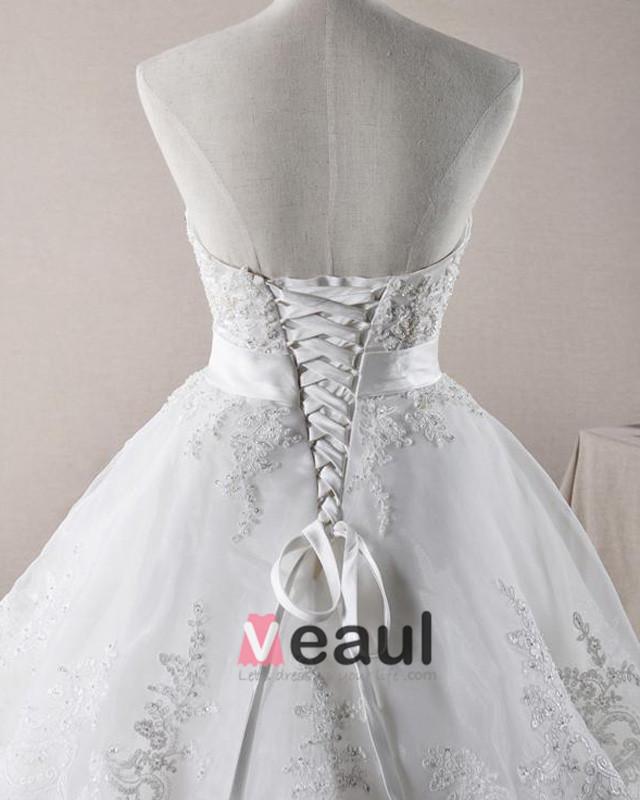 ... Perles Cherie De Decoration Noeud Organza Une Robe De Mariage En Ligne