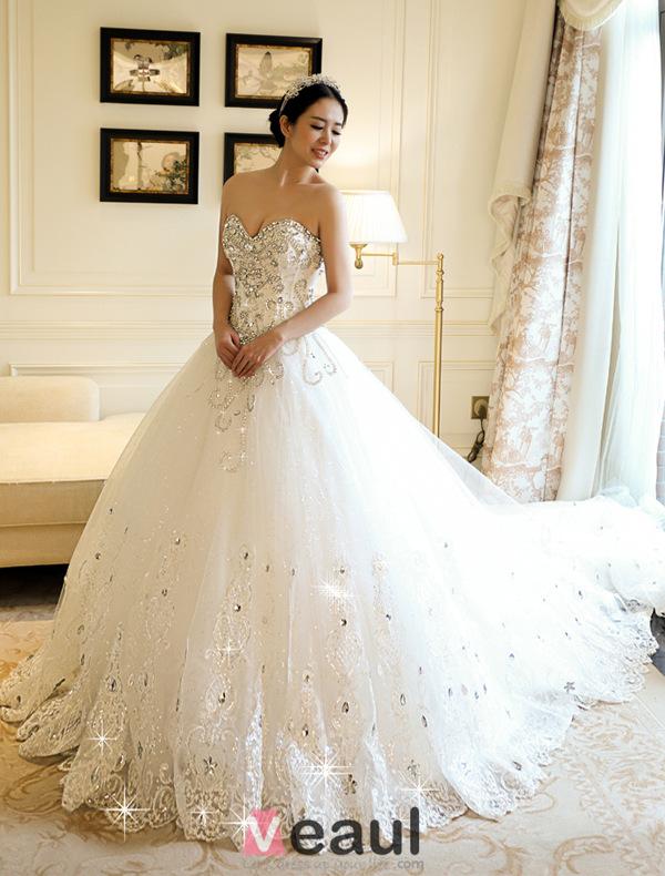 une ligne princesse ch rie dentelle applique strass robe