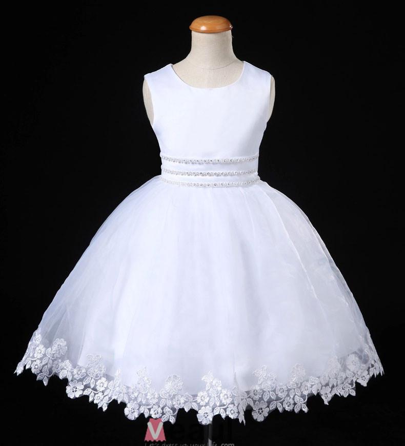 -Fille-Flash-Diamond-Fleur-Blanche-Fille-Robe-De-Princesse-Jupe-Robe ...