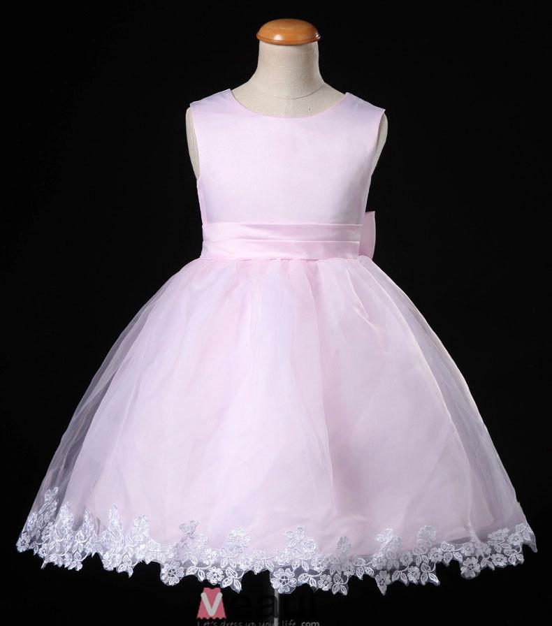 -Robe-Ceremonie-Fille-Fleur-Robe-Rose-De-Princesse-De-Fille-Robe ...