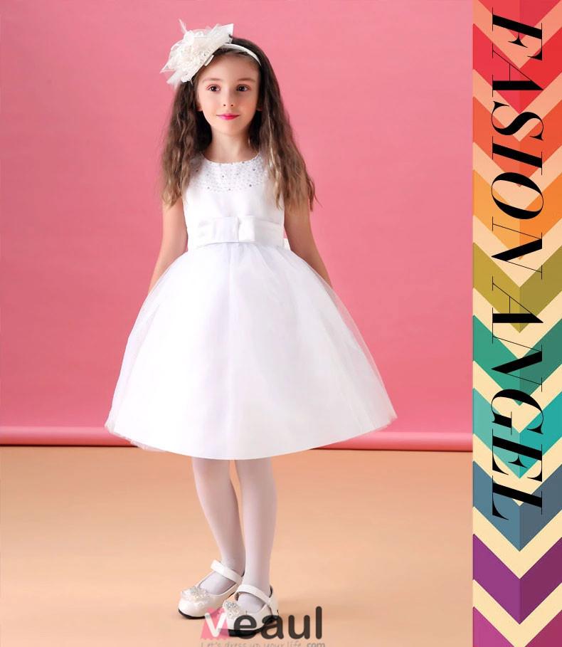 Vestido De Princesa Vestido Blanco Niña De Las Flores